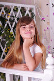 Pretty girl portrait looking at camera Royalty Free Stock Photography