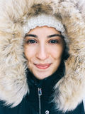 Pretty Girl Portrait In Winter Clothes Royalty Free Stock Photos