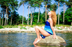 Pretty girl posing Royalty Free Stock Images