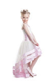 Pretty girl posing in beautiful dress isoloated Royalty Free Stock Image
