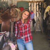 Pretty Girl Posing In Equestrian Context Royalty Free Stock Images