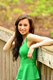 Pretty Girl Posing outdoors Stock Photography