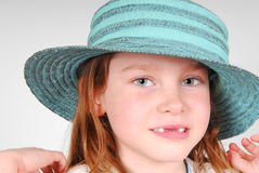 Pretty girl in pretty hat Royalty Free Stock Images