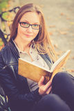 Pretty girl reading Royalty Free Stock Images