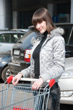 Pretty girl ready for shopping Royalty Free Stock Photos