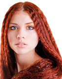 Pretty girl with red hair Royalty Free Stock Photo