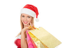 Pretty girl in a red hat Stock Photography