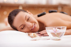 Pretty girl is resting at health resort Stock Photo