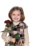 Pretty girl with a rose Royalty Free Stock Photography