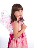 Pretty girl with rose  Royalty Free Stock Images