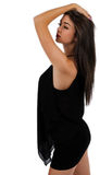 Pretty girl running her fingers through her hair Stock Photo