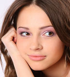 Pretty girl's face closeup Royalty Free Stock Photos