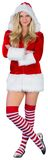 Pretty girl in santa outfit with arms crossed Stock Photography