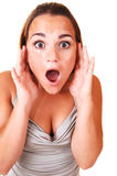 Pretty girl screaming. Stock Images