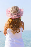 Pretty Girl on the sea Stock Photos