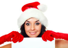Pretty girl with a sheet of paper Royalty Free Stock Image