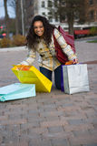 Pretty Girl Shopping Royalty Free Stock Photography