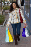 Pretty Girl Shopping Stock Photo