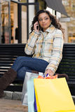 Pretty Girl Shopping Royalty Free Stock Images