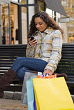Pretty Girl Shopping Royalty Free Stock Photo