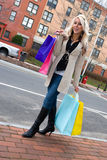 Pretty Girl Shopping Stock Photo