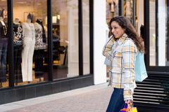 Pretty Girl Shopping Stock Images
