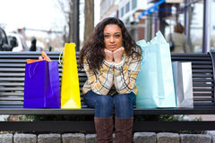 Pretty Girl Shopping Stock Photos