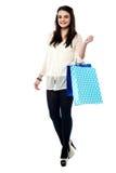 Pretty girl shopping around Royalty Free Stock Photo
