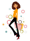 Pretty girl with shopping bag Stock Photo