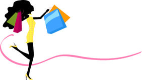 Pretty girl with Shopping Bag Stock Image