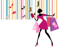 Pretty girl with Shopping Bag Royalty Free Stock Photos