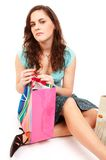 Pretty girl with shopping bags Stock Photo