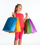 Pretty girl with shopping bags Royalty Free Stock Photography