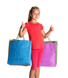 Pretty girl with shopping bags Royalty Free Stock Photos