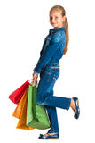 Pretty girl with shopping bags Royalty Free Stock Image