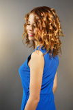 Pretty girl with short curly hair Stock Image