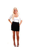 Pretty girl in short skirt. Stock Image