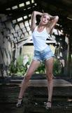 Pretty girl in shorts. Stock Photos