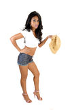 Pretty girl in shorts. Royalty Free Stock Photo