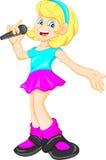 Pretty girl singing Royalty Free Stock Photos