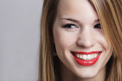 Pretty girl smiling Stock Images