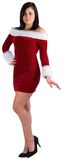 Pretty girl smiling in santa outfit Royalty Free Stock Images
