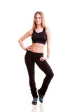 Pretty girl in sport wear isolated over white Stock Photography