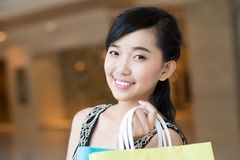 Pretty girl in the store Stock Image