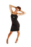 Pretty girl in striped dress. Royalty Free Stock Photography