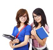 Pretty girl and student Royalty Free Stock Photo