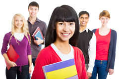 Pretty girl student Stock Photography
