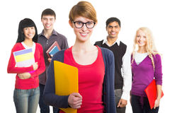 Pretty girl student Stock Images