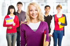 Pretty girl student Royalty Free Stock Image