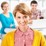 Pretty girl student Royalty Free Stock Photos